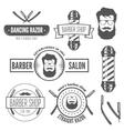 Set of vintage badge emblem or logotype elements vector image