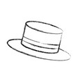 snowman hat isolated icon vector image
