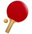 Table tennis bat and ball vector image