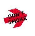 Do not smoke stamp vector image