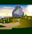 skyscrapers buildings in city vector image