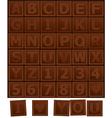 Chocolate alphabet vector image