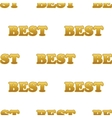 Word BEST pattern vector image