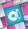 Gramophone vinyl icon sign Modern flat style for vector image
