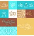 Wedding invitation design set vector image vector image