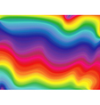 Abstract wavy rainbow vector image