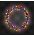 Christmas and New year realistic light garlands vector image