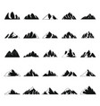 mountain icons set simple style vector image