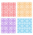 seamless geometric line pattern in korean style vector image