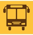 The bus icon Public transport stop symbol Flat vector image