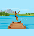 vacation weekend relax concept young man vector image