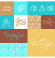 Wedding invitation design set vector image
