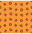 Chocolate Candies Seamless Pattern Background vector image
