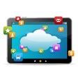 Black tablet like Ipade on white background and vector image vector image