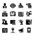 news media journal icons set vector image