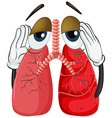 Human lung with cancer vector image