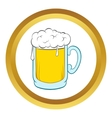Beer mug icon cartoon style vector image
