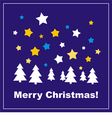 Card or invitation with Merry Christmas wishes vector image