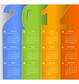Clean 2014 business wall calendar vector image
