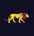 lion walk vector image