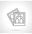 Love memory black flat line icon vector image