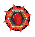 mma logo fighting glove emblem for sports team vector image