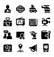 news media journal icons set vector image