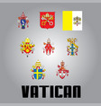 official government elements of vatican vector image