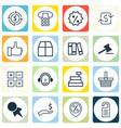 Set of 16 commerce icons includes finance gavel vector image