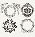 Set Of Four Circle Elements vector image