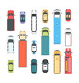 vehicles - set of modern city elements vector image