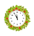 Christmas Adorned Clock vector image