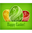 easter eggs background 10 v vector image