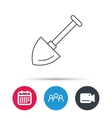 Shovel icon Garden equipment sign vector image