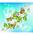 A blue colored stationery with butterflies vector image vector image