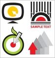 Logo templates set vector image vector image