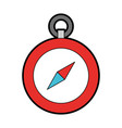 cute red compass cartoon vector image