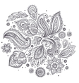 Beautiful Indian floral ornament vector image