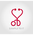 Stethoscope heart vector image