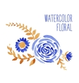 Watercolor floral bouquet vector image