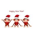 Funny monkey on white background vector image