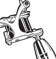 machine tattoo 2 vector image vector image