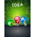 Idea Concept Layout for Brainstorming and vector image