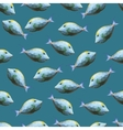 Seamless pattern with polygonal unicornfishes vector image