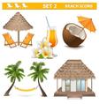Beach Icons Set 2 vector image