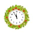 Christmas Adorned Clock vector image