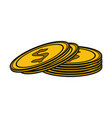 dollar coins icon image vector image