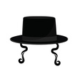 Jewish hat with sideburns vector image