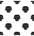 mayan mask icon in black style isolated on white vector image