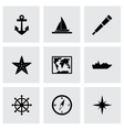 nautical icon set vector image